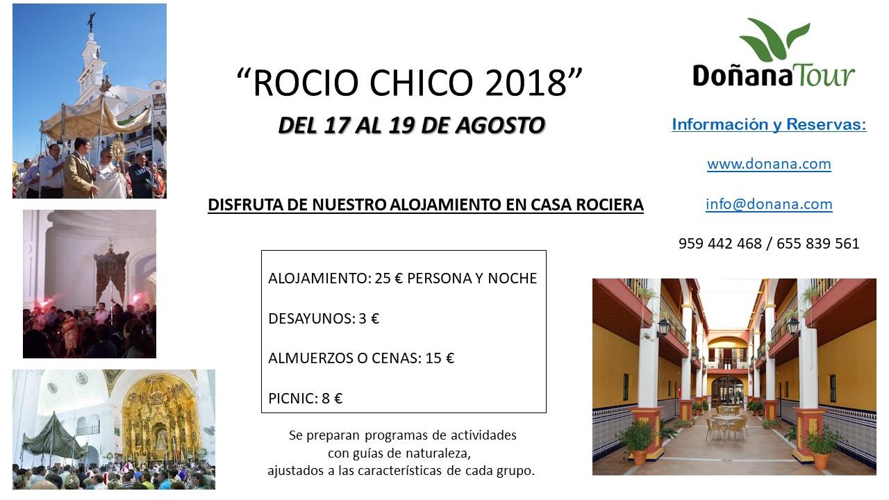 ¡ROCÍO CHICO 2018! DEL 17 AL 19 DE AGOSTO